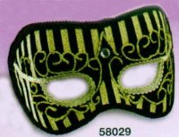 UNIQUE MASQUERADE MASK BLACK & GOLD