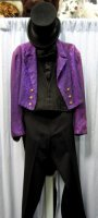 Tuxedo Tails Costume, Purple - Chest 40""