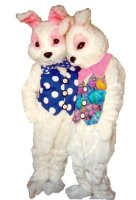 Bunny w/ Vest Costume, Size Most #7248