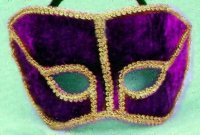 PURPLE VELVET MASK