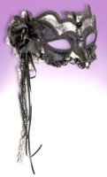 MASK MASQUERADE BLACK LACE