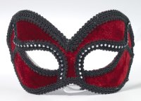 BURGUNDY MASK with BLACK TRIM