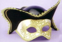 1/2 VENETIAN MASK with HAT