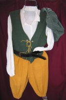 Renaissance Peasant Child Costume, Size Child 3 - 5