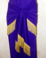 Egyptian Queen Costume, Purple, Size Most #300