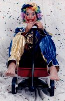 Clown child Costume Size Ch 8 - 10