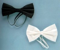BOWTIE with elastic - White