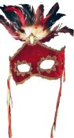 PARADISE MASK - Fancy Red