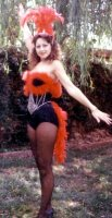 Showgirl Costume Size MD-LG