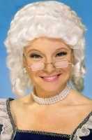 COLONIAL WIG / MRS CLAUS - White - Discount