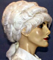 COLONIAL WIG - FEMALE - White