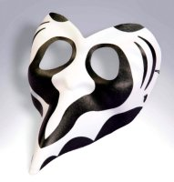 LONG NOSE MASK, Black and White