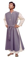 Medieval Men's Costume, Size Most, Grey