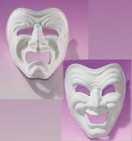 COMEDY & TRAGEDY MASQUERADE MASKS