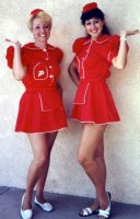 Nineteen Fifties- Car Hop Costume Size 6-8 SM
