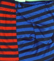 Leggings for Fool's and Clowns - Red & Blue Stripe