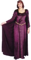 Guinevere Costume, Size Large, Burg & Purple