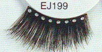 Black Eyelashes with Crystal Rhinestones