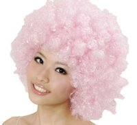 CLOWN WIG - MEDIUM PINK AFRO