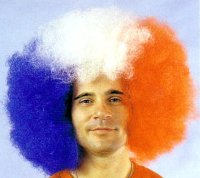 AFRO WIG SUPER GIANT Red White Blue