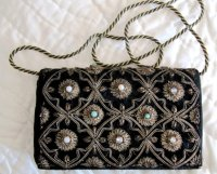 Black Vintage Purse with gold