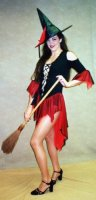 Red & Black Witch Costume