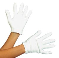 WHITE NO-PLEAT GLOVES