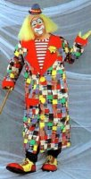 Clown Costume Size LG-Most