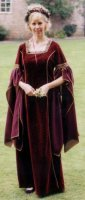 Guinevere Costume, Size Medium, Burgundy