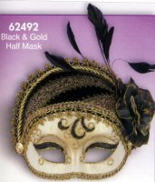 FANCY BLACK and GOLD MASK