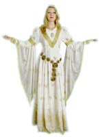 Medieval Gown Costume, Creme, Size Medium