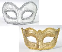 SILVERr or GOLD MASKS