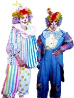 Clown Costume Size SMALL - LARGE #4312