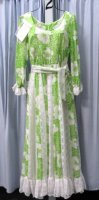 1970's Lady Garden Dress, Costume, Size 10 - 14 MD