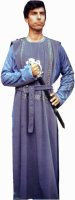 Medieval Man Costume, Chest 50 XXL, Blue Grey