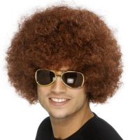 AFRO WIG - CHEAP Small - Medium Brown