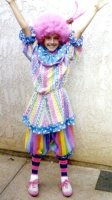 Clown child Costume Size Child 8 - 12
