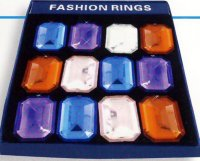 RHINESTONE RING - JUMBO ASSORTED COLORS