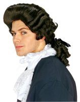 BROWN COLONIAL WIG