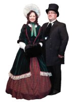 Southern Belle - Winter Dickens Costume, Size 6 - 14 MD