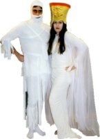 Pharaoh Mummy Costume, Creme, Size Small - Large 40 -46
