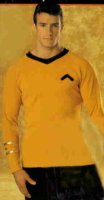 Star Trek Gold Shirt Costume Size MD - LG