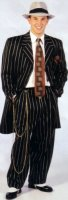 Gangster Costume, Size 42 Long, Black