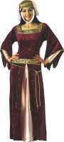 MEDIEVAL MAID MARION COSTUME - Red Burgundy