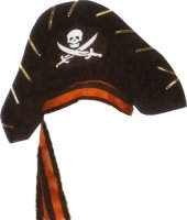 VELVET PIRATE HAT WITH LACINGS