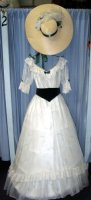 Southern Belle Costume, Size 8-9 SM, White