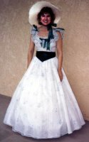 Southern Belle Costume, Size 10, White