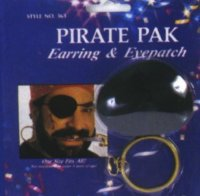PIRATE EARRING & PATCH