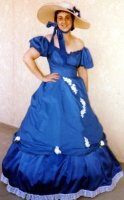 Southern Belle Costume, Size 11 SM - MD, Royal Blue