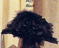 Victorian Black Hat with veil